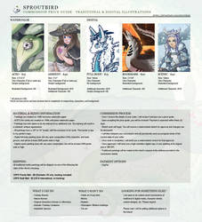 2020 Commission Price Guide - Status: OPEN