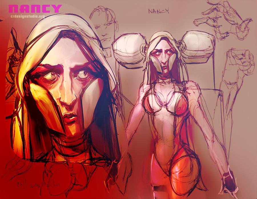 NANCY- SKETCH by CHARLESRATTERAY