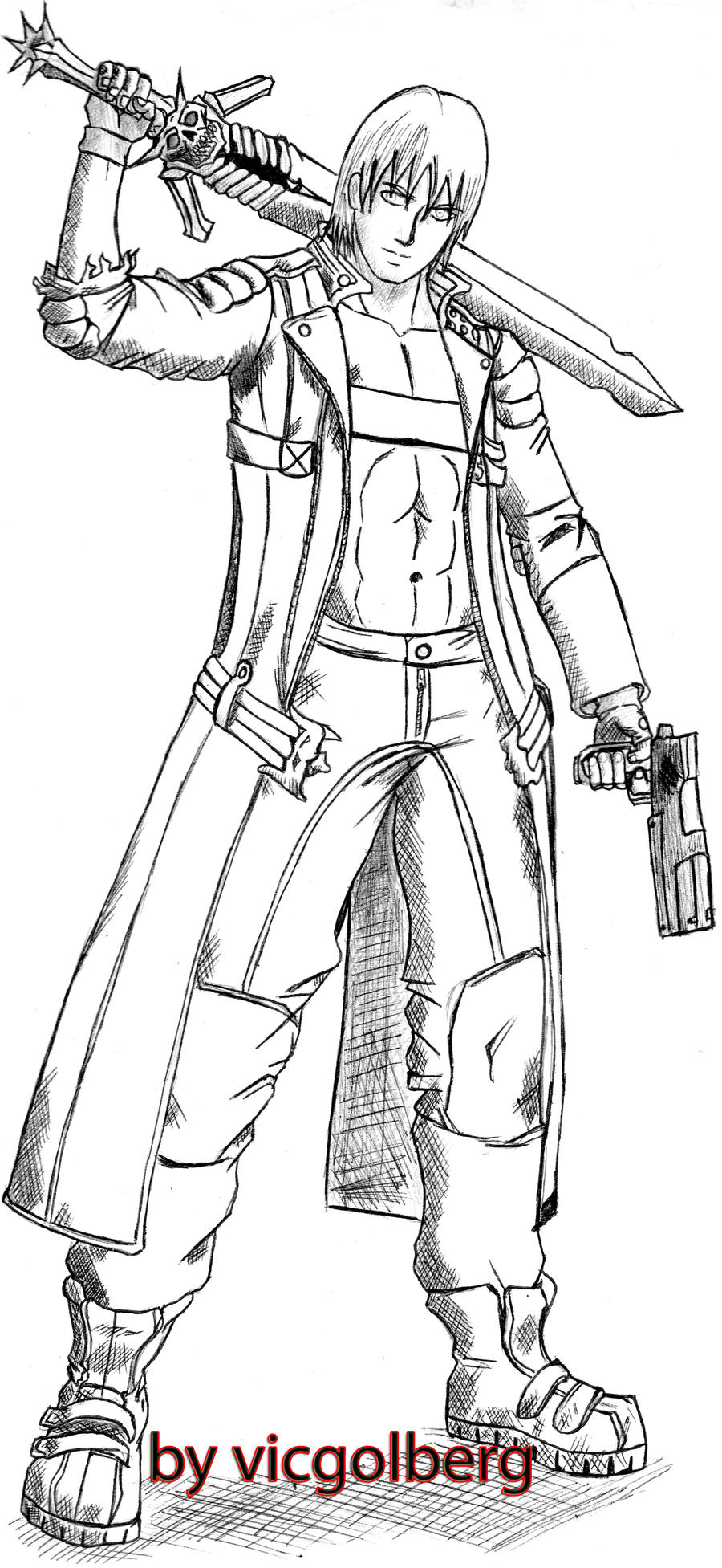 devil may cry coloring pages - photo#16