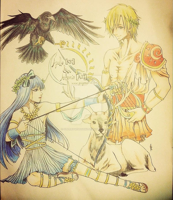 Artemis And Apollo Paigeeworld Greek Gods Contest By StarryWishShiki
