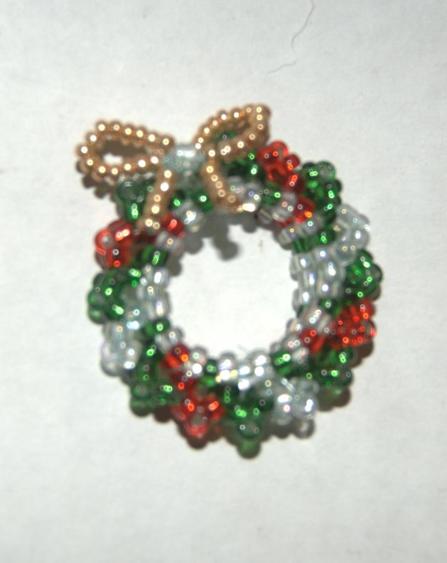 Beaded Christmas Wreath By Jupitergurl