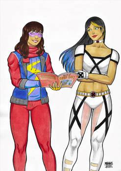 Kamala Khan Ms Marvel and Laura Kinney X-23