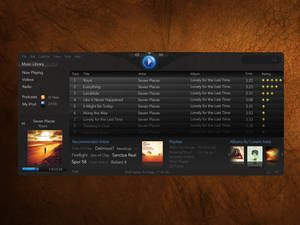 Linux Media Player Mockup