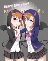 Chika/Honk HBD - Little Devils Friendship is Magic by purpleblu