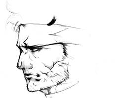 Solid Snake Sketch by Animixter