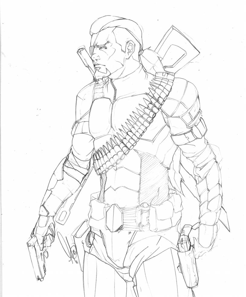 coloring pages of deathstroke costume - photo#6