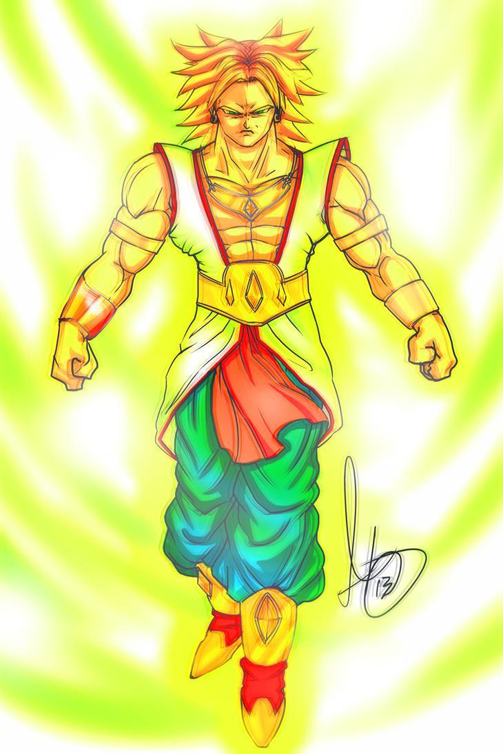 super saiyan broly by animixter on deviantart