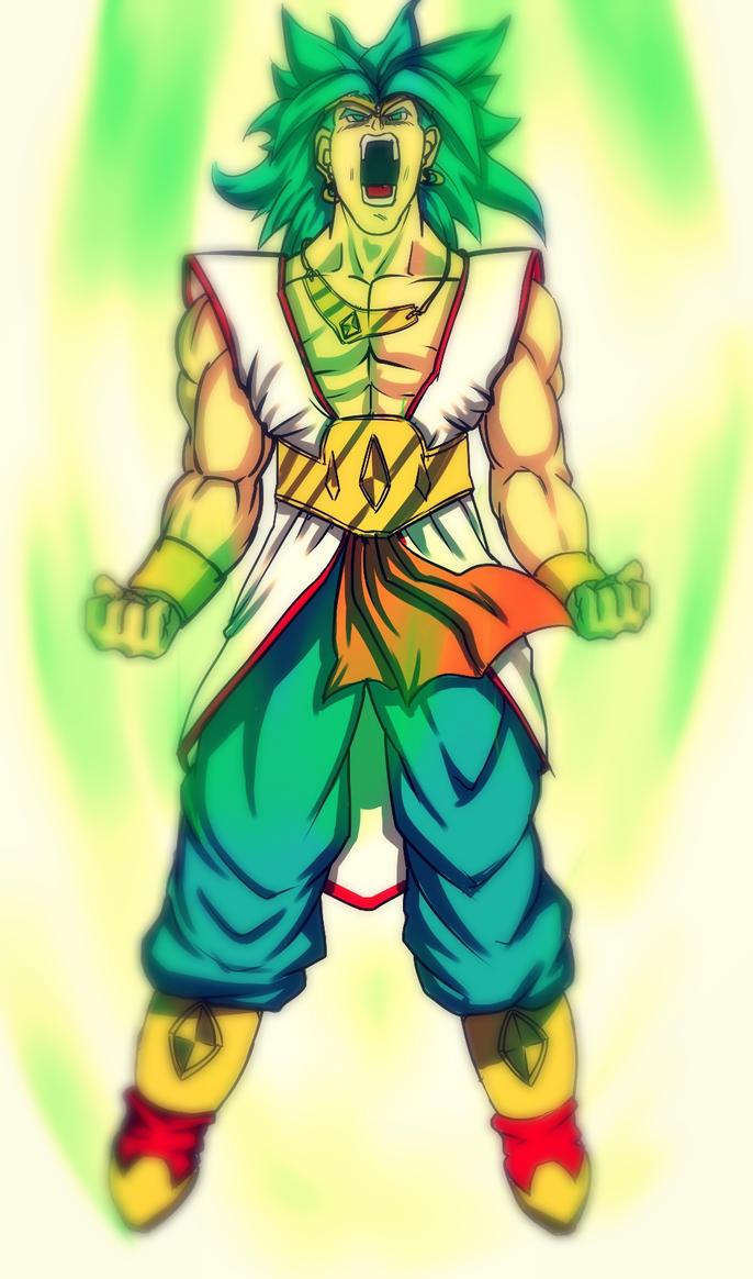 super saiyan 2 broly by animixter on deviantart