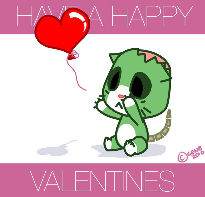Zombie Cat : Valentines By Gen8 ...