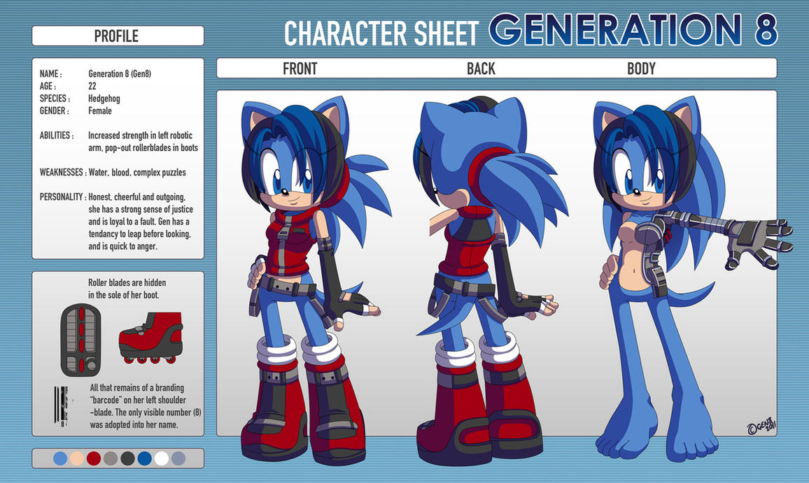 Character Sheet : Gen8 by gen8