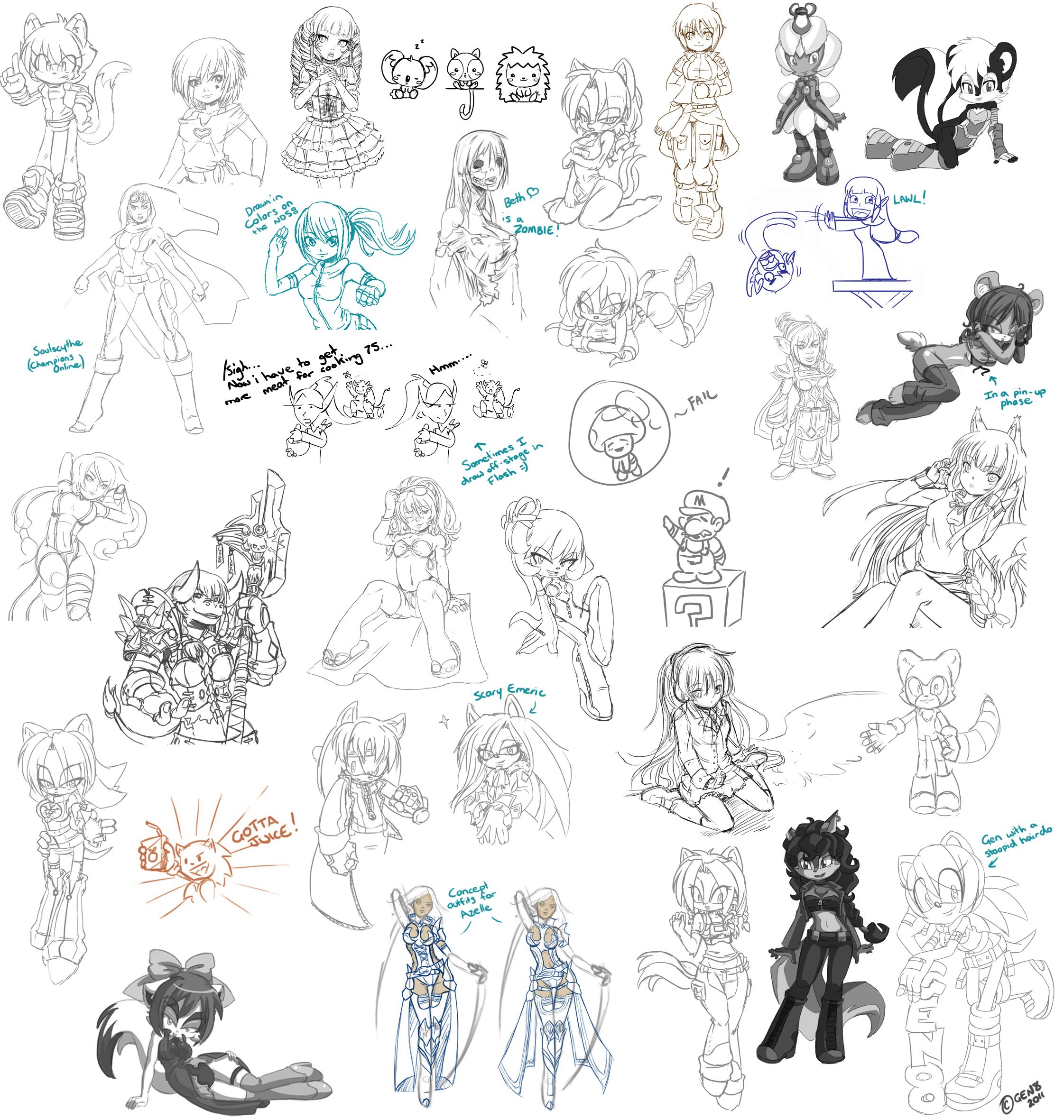 Sketch Dump 2011 by gen8