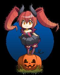 Chibi Punkin Happy Halloween! by gen8