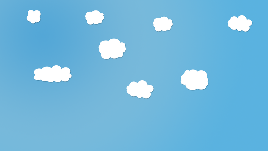 simple clouds on blue background by dragossshadow