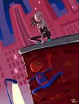 Spider Gwen meets Spiderman