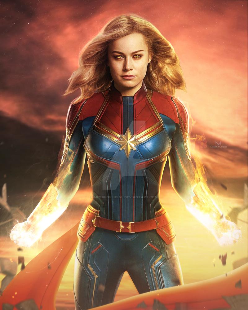 Captain Marvel Brie Larson By Imizuri On Deviantart