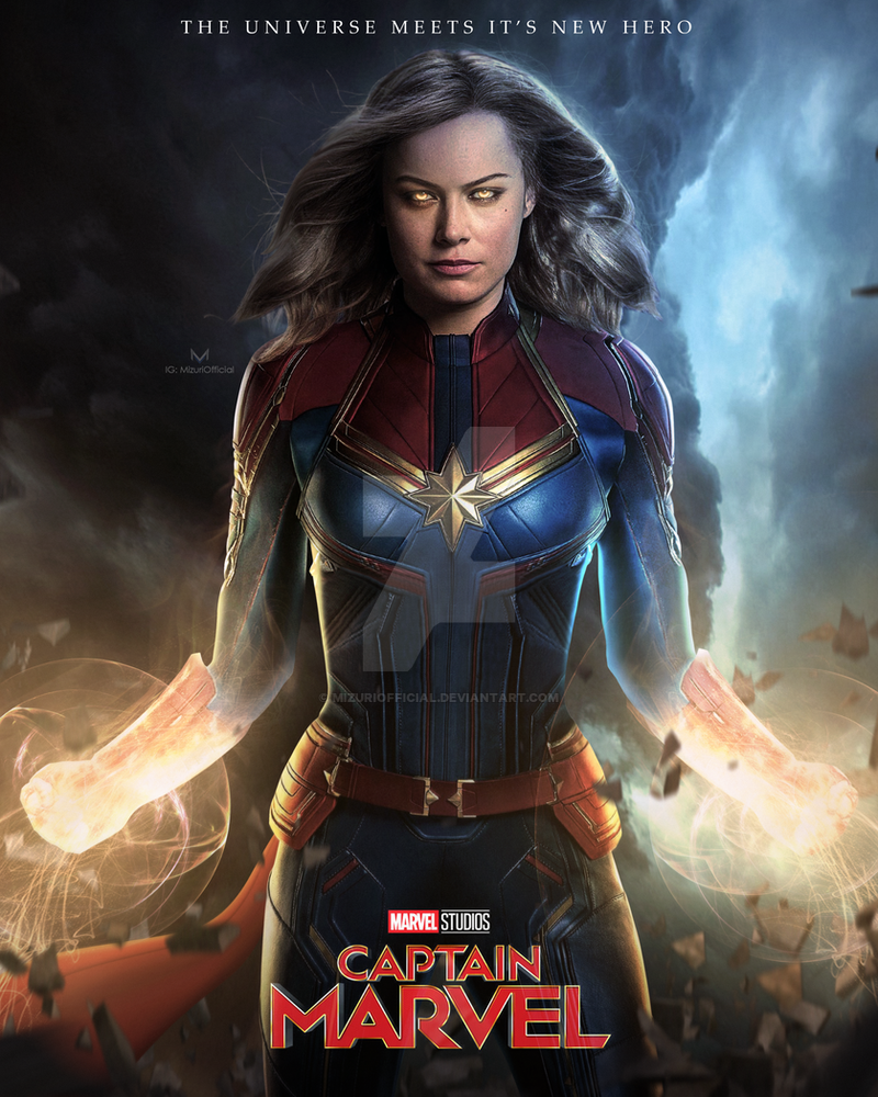 Image result for 'Captain Marvel' Poster, Brie Larson