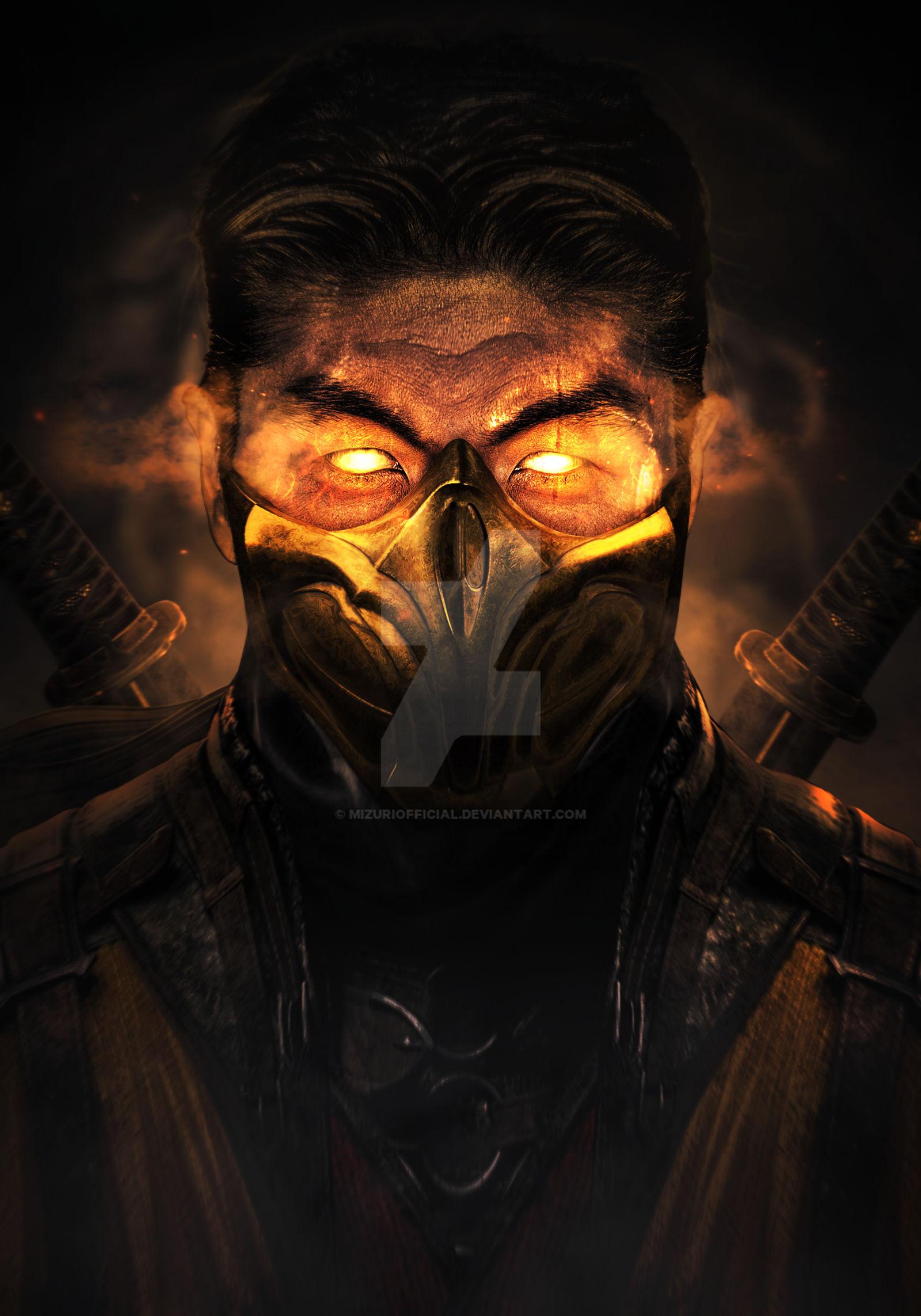 Mortal Kombat 11 Scorpion Brian Tee By Mizuriofficial On