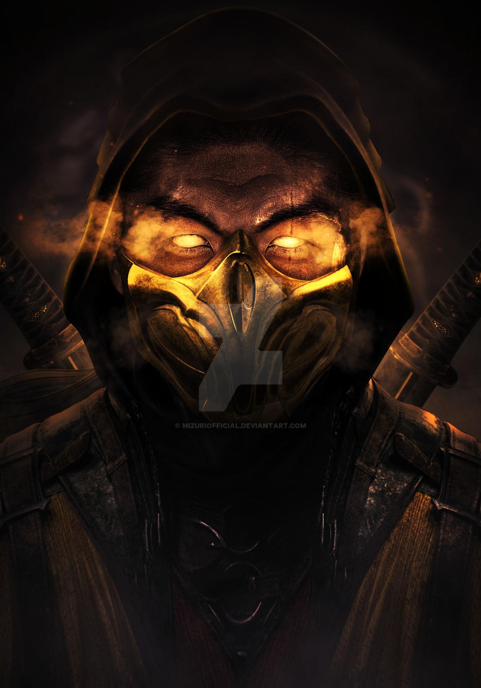 Mortal Kombat 11 Scorpion Hooded Brian Tee By Mizuriofficial