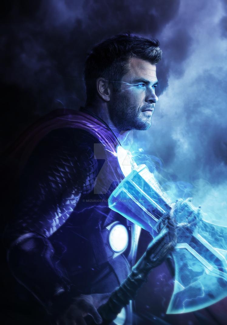 Avengers endgame thor and stormbreaker by mizuriofficial - Thor art wallpaper ...