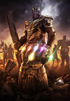 AVENGERS ENDGAME - THANOS AND THE GAUNTLET