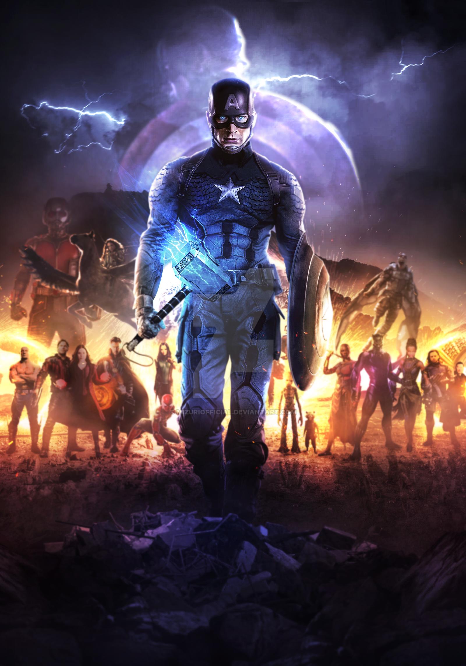 Captain America Mjolnir Fanart