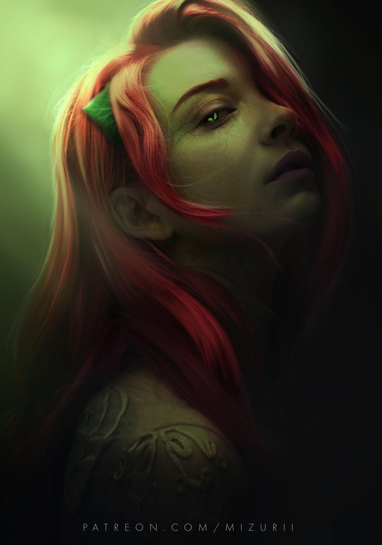 Natalie Dormer as Poison Ivy by MizuriOfficial on DeviantArt