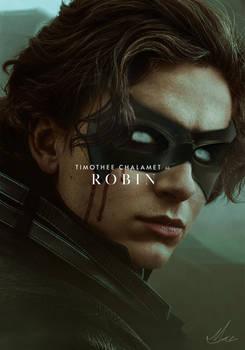 Timothee Chalamet as Robin (Dune x The Batman)