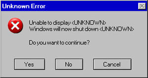 Unknown Error