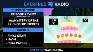 Redesigned EverFree Radio Podcast splash screen