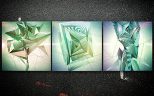 Fashion Green Triptych. All. by Shelest
