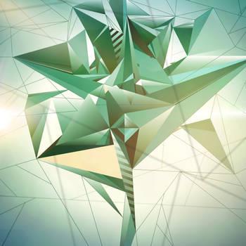 Fashion Green Triptych. n1.