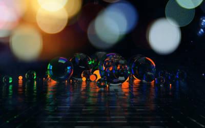Spheres. Octane Render.