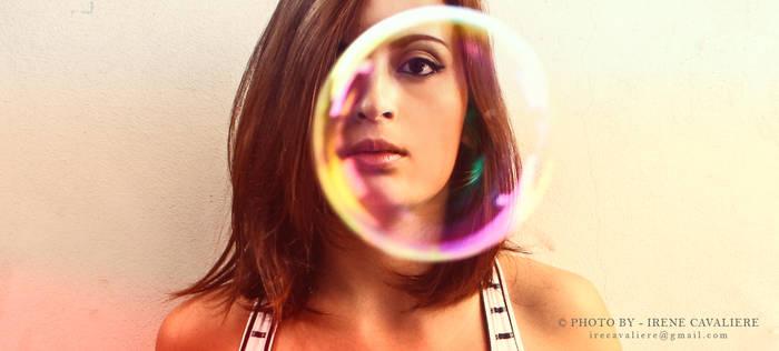 self portrait with bubble