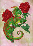 Red Rose Imp Cross-stitch Pattern