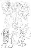 More Sketches by heck13r