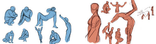 Quickposes Studies by CrafterQueen
