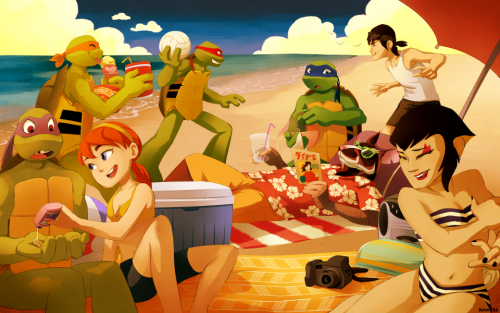 TMNT2012 Summer by Amypony36