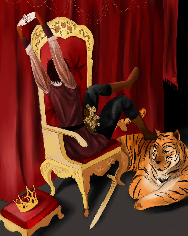 The Lazy King by Annwolvesbain