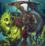 World Of Warcraft. Worgen Blademaster fanart.