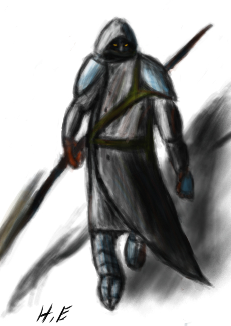 Image Gallery hooded warrior
