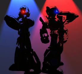 Mega Man X and Zero by basil6md