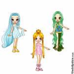 Goddess Luchia, Hanon and Rina