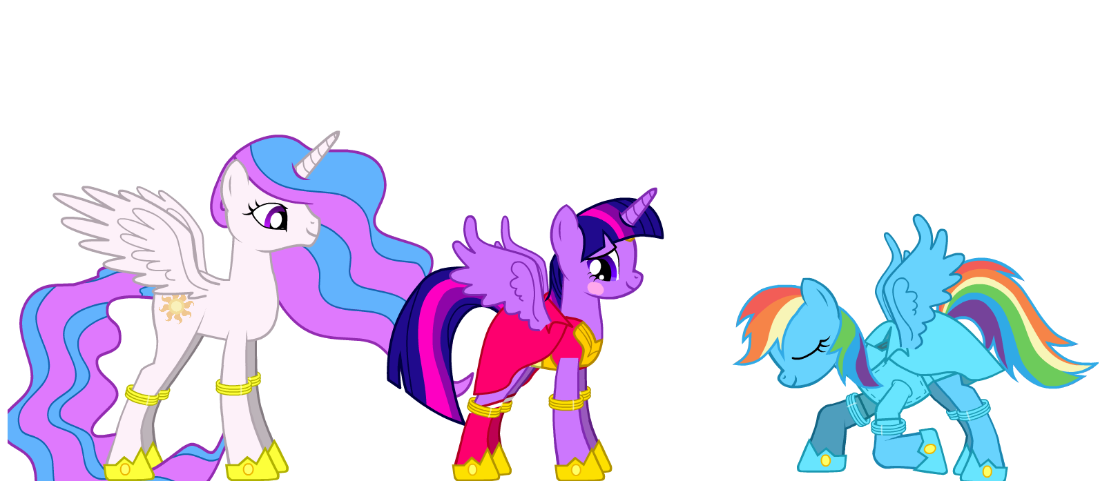 my little pony shining armor and cadence kiss