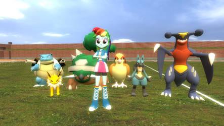 Rainbow's Pokemon Team by DA-FcoMk513