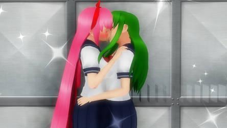 Maidori kiss by FcoMk513-DA