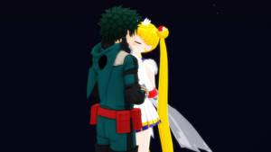 UsaDeku kiss
