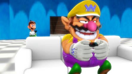 End of the line - Luigi comfronts Big Wario by FcoMk513-DA