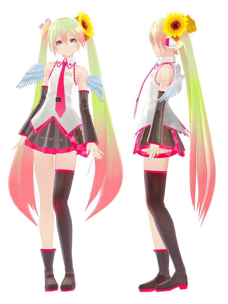 MMD DL - Miku Arcade/RPG model by NoUsernameIncluded on