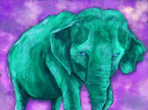 green elephant