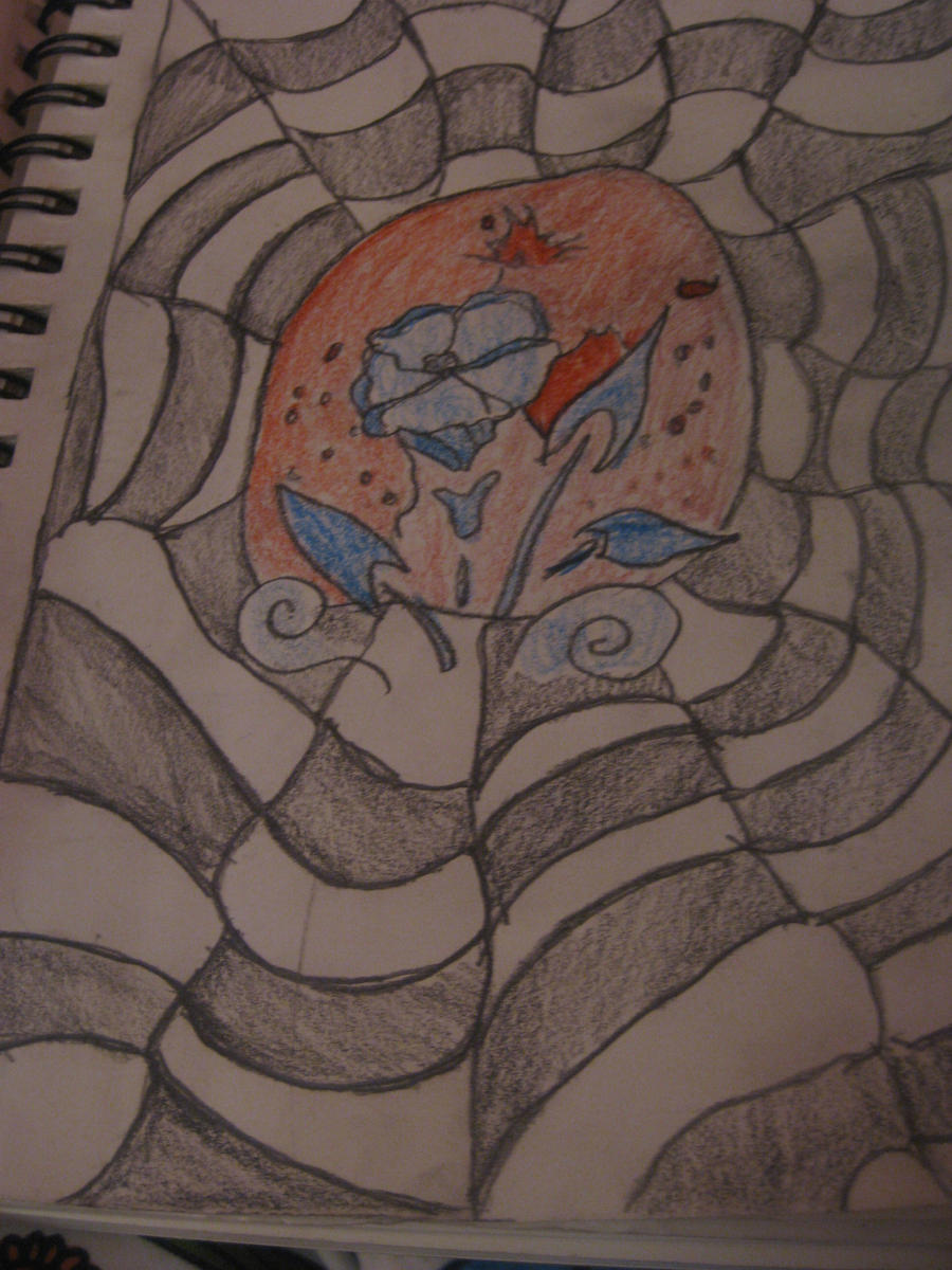 Pencil/Colored Pencil Sketch: The Spiders Web by KatrinkaDaggerz